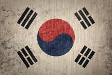Grunge South Korea Flag. South...