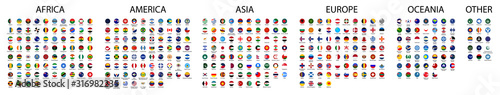 Photo Flag of world. Vector icons