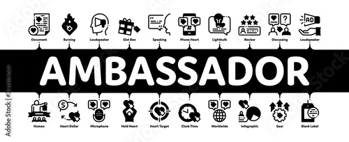Ambassador Creative Minimal Infographic Web Banner Vector Wallpaper Mural