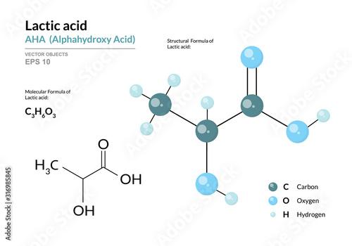 Lactic acid Canvas Print