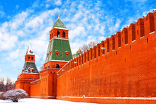 Winter Moscow Kremlin. Archite...