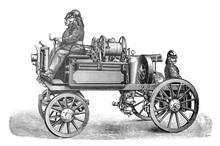 Old Fire Brigade Car - Fire Tr...