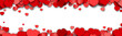Valentines Day Background Design with Heart Stickers Scattered