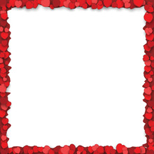 Valentines Day Frame With Red ...