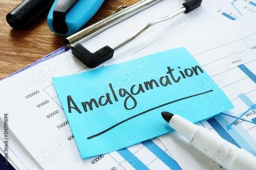 Photo Amalgamation written on the blue memo stick.