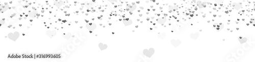 Photo seamless confetti hearts background