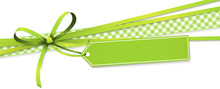 Green Colored Ribbon Bow With ...