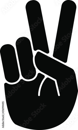 Hand gesture V icon