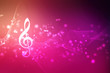 canvas print picture - Abstract Colorful music background with notes, Music Party Background