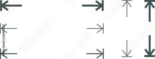 Fotografie, Tablou height and width icon, area or size, dimension icon