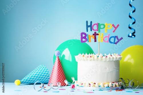 happy birthday cake Canvas Print
