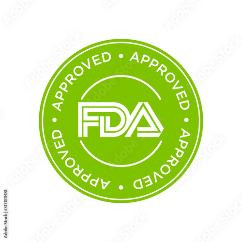 Photo FDA Approved (Food and Drug Administration) icon, symbol, label, badge, logo, seal