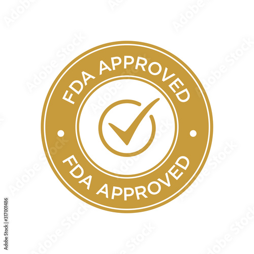 FDA Approved (Food and Drug Administration) icon, symbol, label, badge, logo, seal Canvas Print