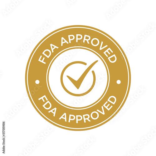 Fotografía FDA Approved (Food and Drug Administration) icon, symbol, label, badge, logo, seal