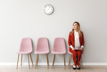 Young Woman Waiting For Job In...