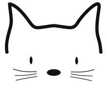 Meow Cat Vector Illustration