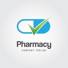 Pharmacy Logo Template.  Medic...