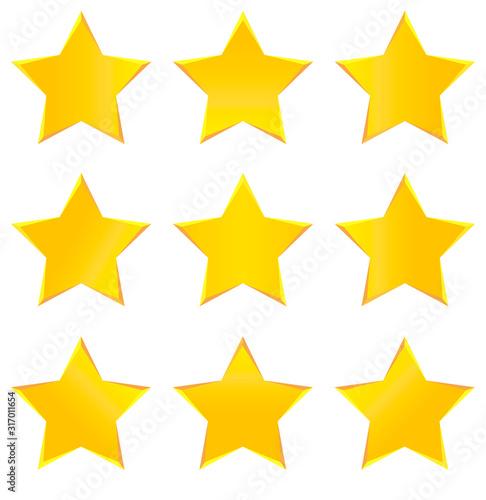 Cuadros en Lienzo Gold Stars Collection