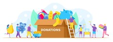 Donation, Charity Concept Vect...
