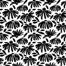 Daisy Flower Vector Seamless P...