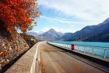 Road On Dam On Roselend Lake (...