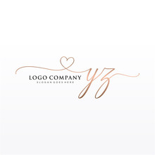 Initial YZ Beauty Monogram And...