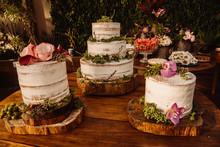 Wedding Dress Cake Bouquet Ring