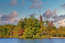 A Carillon Beside A Lake In Th...