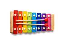 Colour Xylophone Isolated On W...