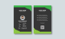 Corporate Green Id Card Layout