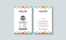 Corporate Colorful Id Card Layout