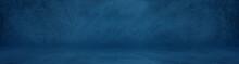 Wide Horizontal Dark Blue Ceme...