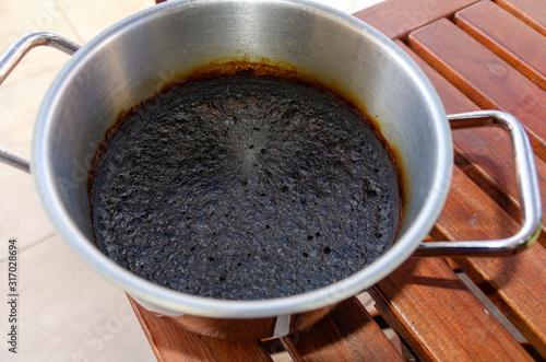 Fototapeta Pot with burnt food obraz