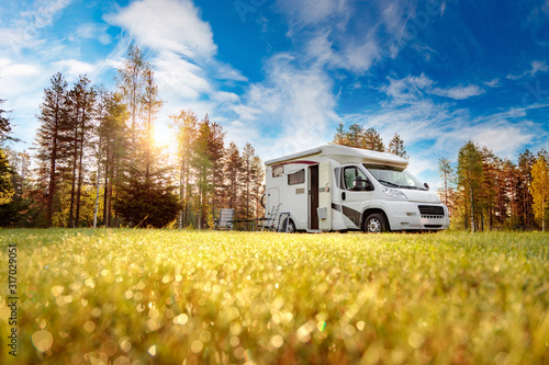Foto Family vacation travel RV, holiday trip in motorhome