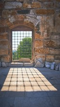 Vertical Shot Of A Window With...