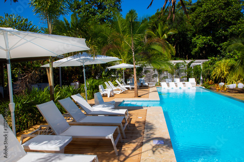Photo Pool of a Boutique Hotel in the Caribbean of Costa Rica close to Puerto Viejo