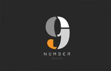Number 9 Nine For Company Logo...