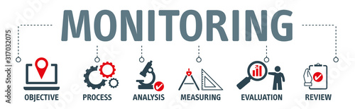 Obraz monitoring process concept vector illustration - fototapety do salonu