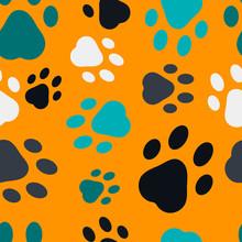 Seamless Animal Footprints Pat...
