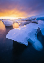 Iceberg On The Lava Beach Of J...