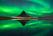 Norhern Lights At Kirkjufell, ...