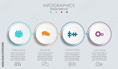 Infographic design template with place for your data Wallpaper Mural