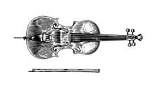 Jazz Cello And Bow In Monochro...