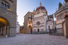 Beautiful Architecture Of The Basilica Of Santa Maria Maggiore In Bergamo, Italy