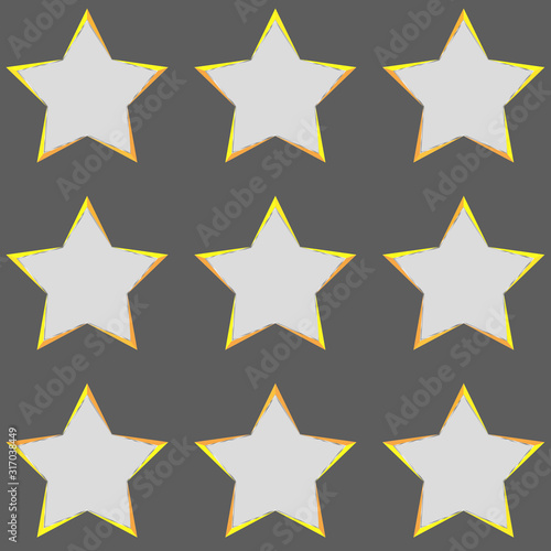 Fotografía Gold empty Stars buttons Collection