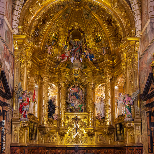 View of the baroque altarpiece of the main altar of the Cistercian monastery chu Wallpaper Mural