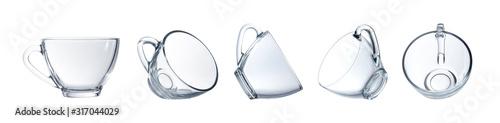 Obraz Empty glass isolated on a white background. - fototapety do salonu