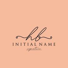 Initial Letter HB Signature Ha...