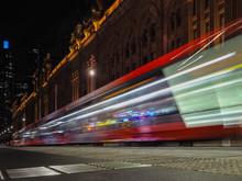 Motion Blurred Of Sydney Tram ...