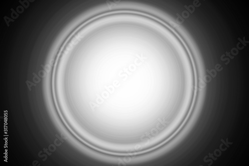 Fondo de destello circular gris de luz blanca. Canvas Print